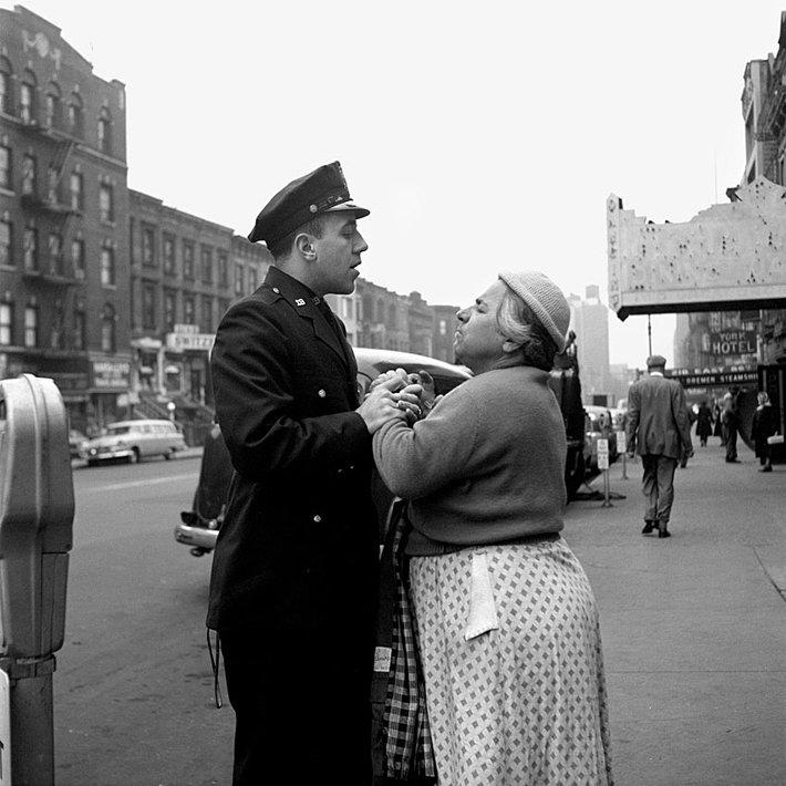 Armenian woman fighting, September, 1956, Lower East Side, NY