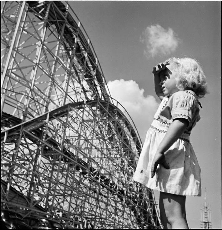 Young Girl at Palisades Amusement Park – 1946