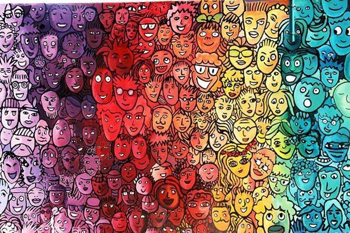 A Lampedusa i colori dei murales