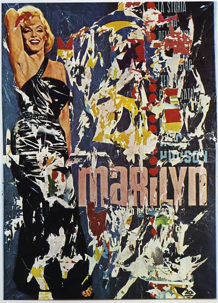 Mimmo Rotella, Marilyn, 1963