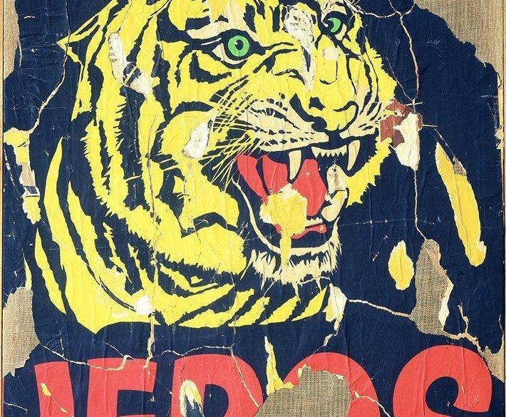 Mimmo Rotella, La tigre, 1962