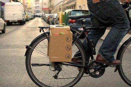 Packtasche, il cargo-cartone per biciclette