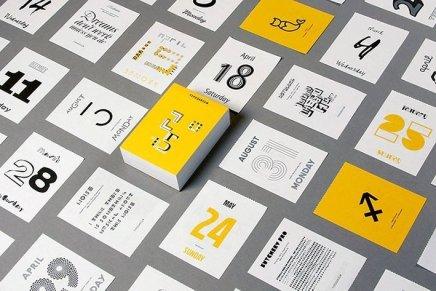 Typodarium 2015, il calendario tipografico di Slanted