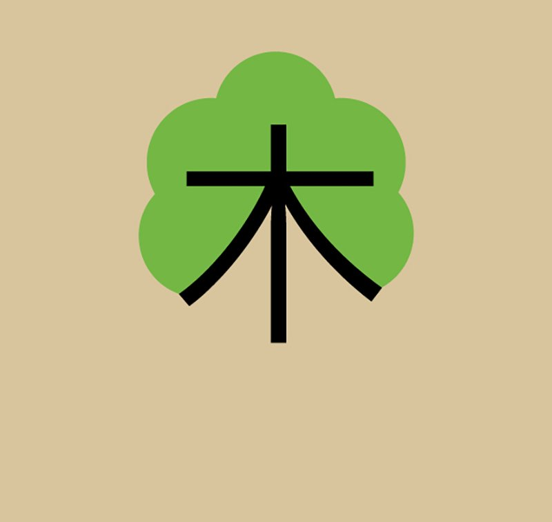 Tree by Noma Bar for Chineasy