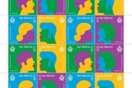 La giornata del bacio. I francobolli di Olimpia Zagnoli