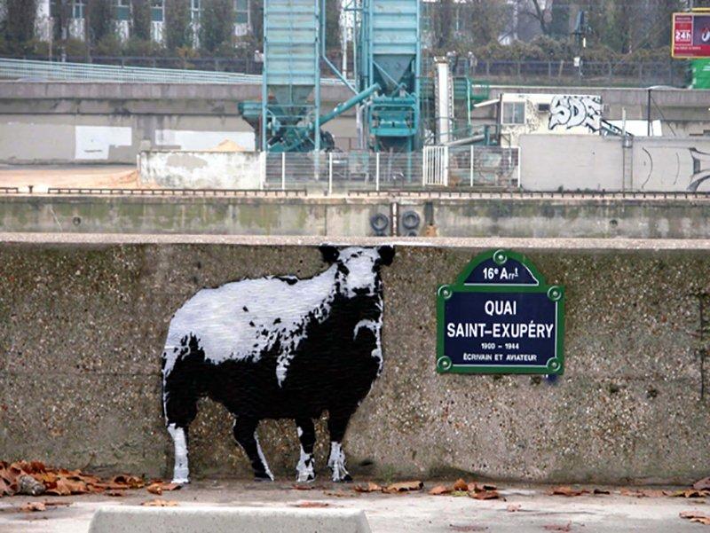 """WK_Blek le Rat_Sheep """"Dessine moi un mouton""""_Paris_2003_©Sybille Prou_designplayground"""
