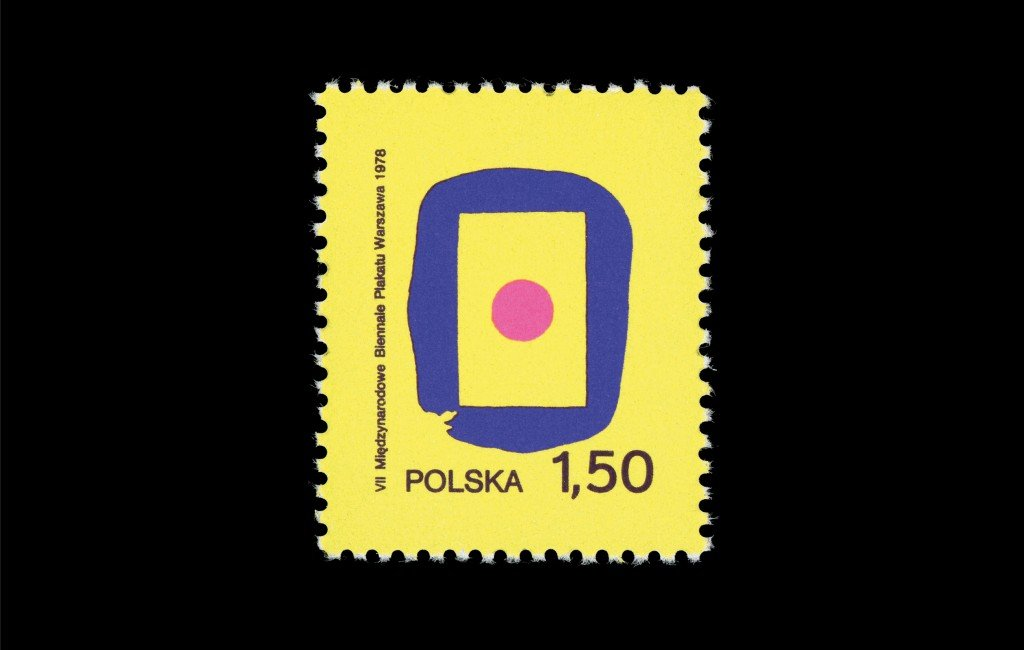 7th International Poster Biennale in Warsaw (1,50). Poland, 1978. Design: Witold Janowski.