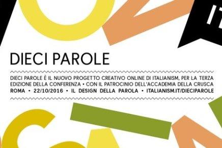 """""""Dieci Parole"""", il nuovo progetto di Italianism"""