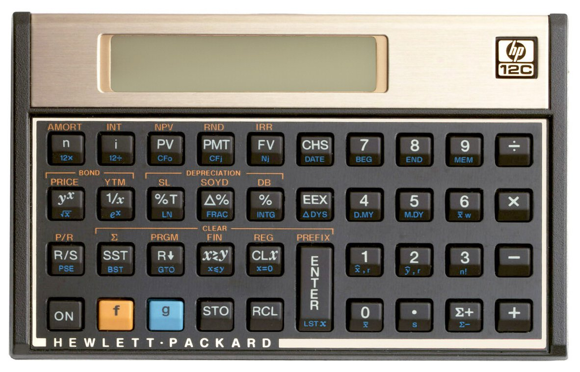 1999 - HP 12C Calculator by hp