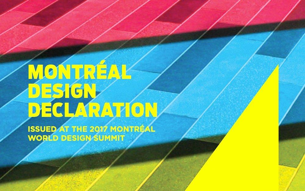 """""""Montreal Design Declaration"""". Tutte le persone meritano di vivere in un mondo ben progettato."""