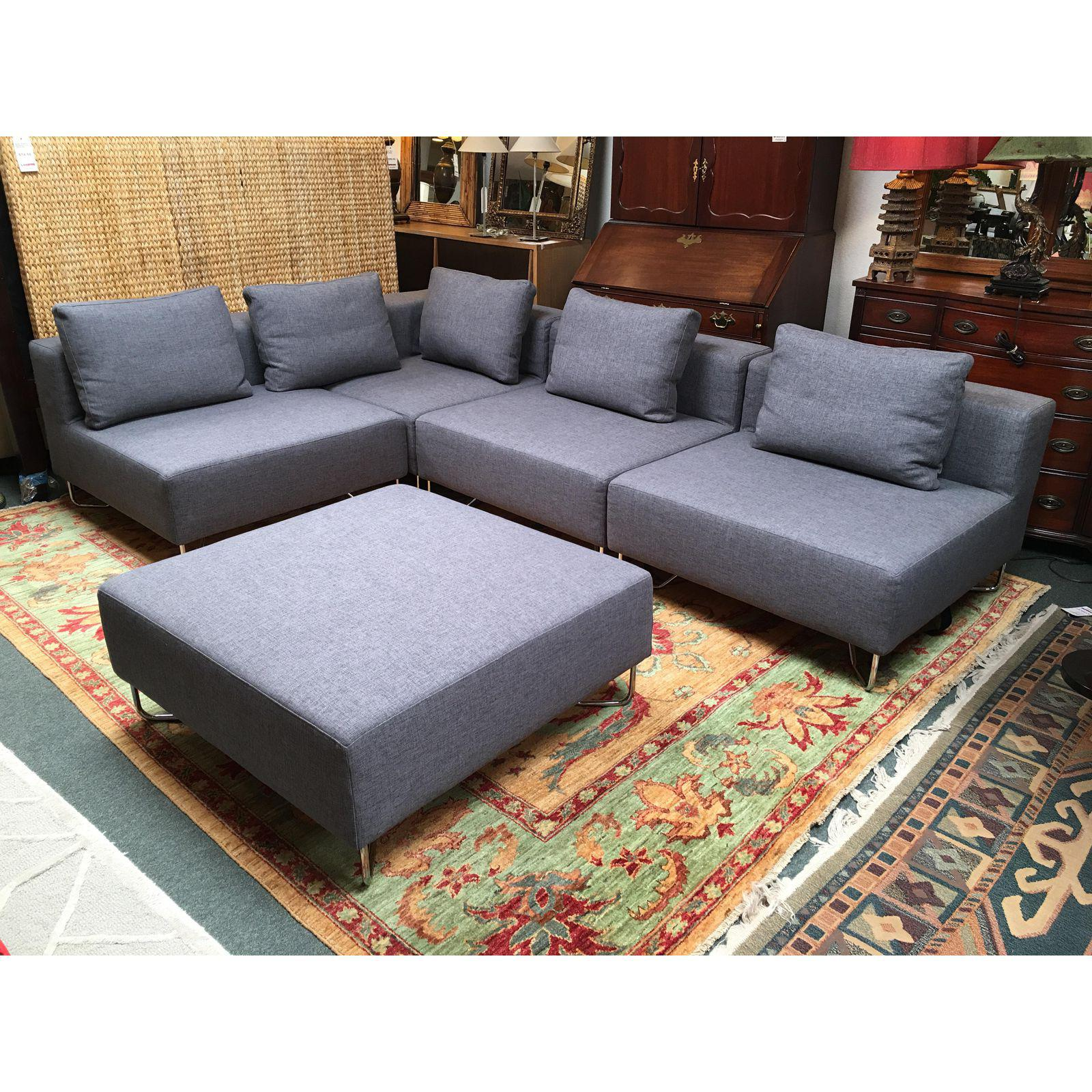 cb2 lotus sectional eight pieces