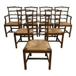 Set Of Seven Vintage Georgian Chippendale Ladderback Chairs Design Plus Gallery