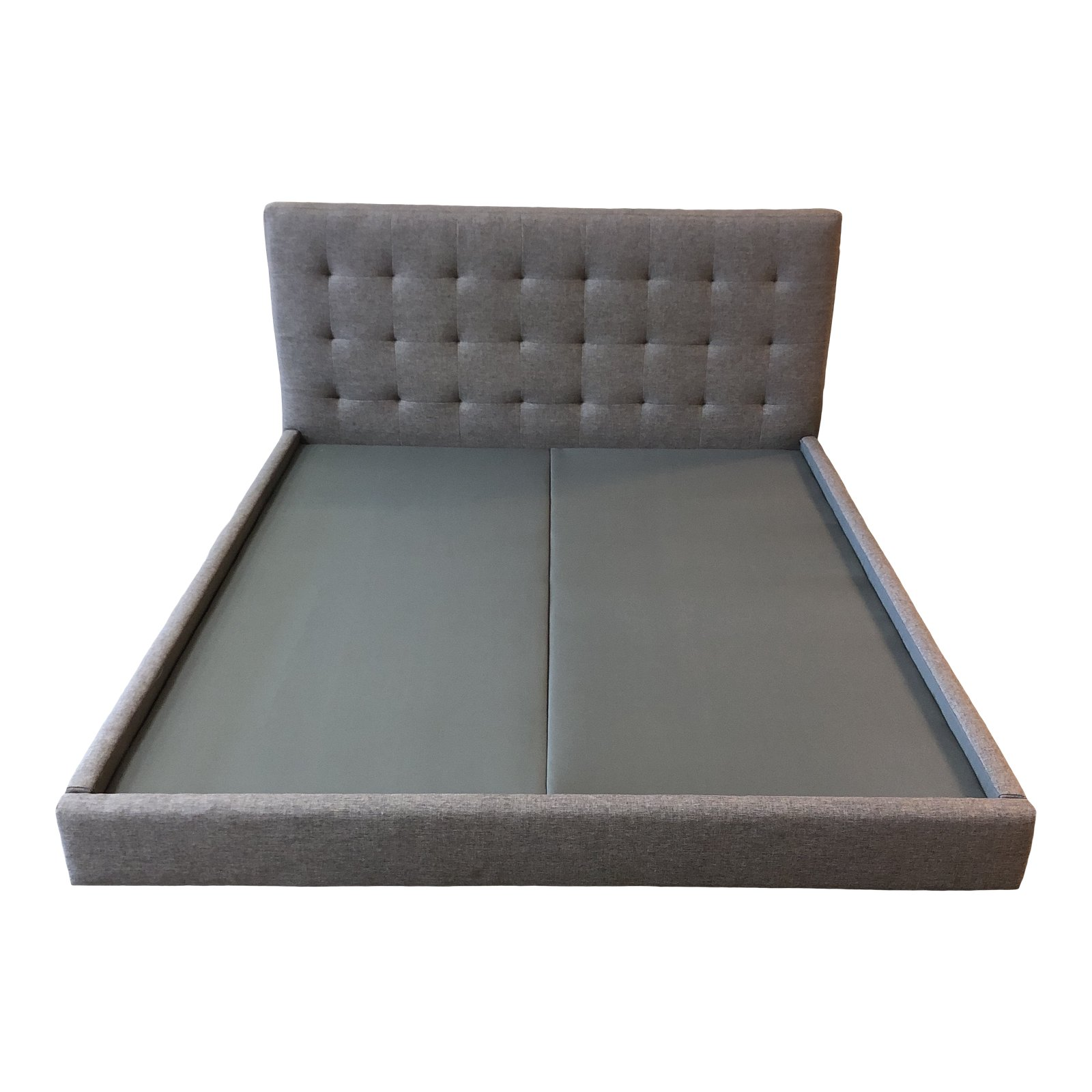 Custom California King Upholstered Platform Bed Frame