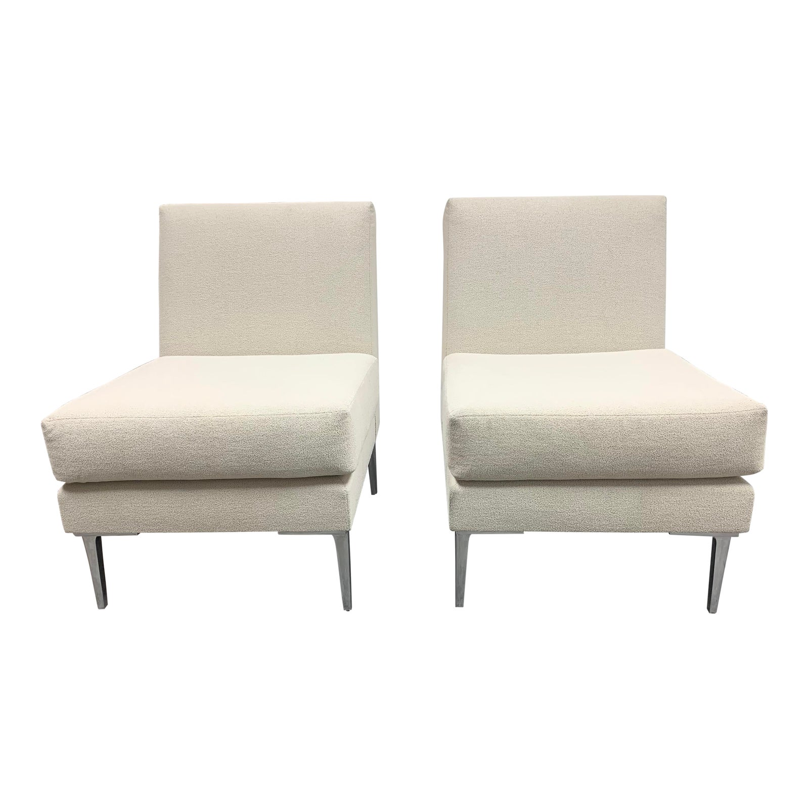 Design Within Reach Ivory Slipper Chairs A Pair