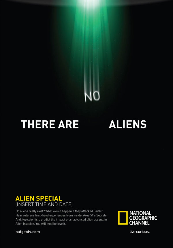There are no Aliens Print ad