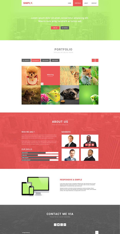 Simply Flat Web Design Inspiration