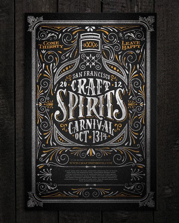 Craft Spirits Carnival poster Print Design Inspiration