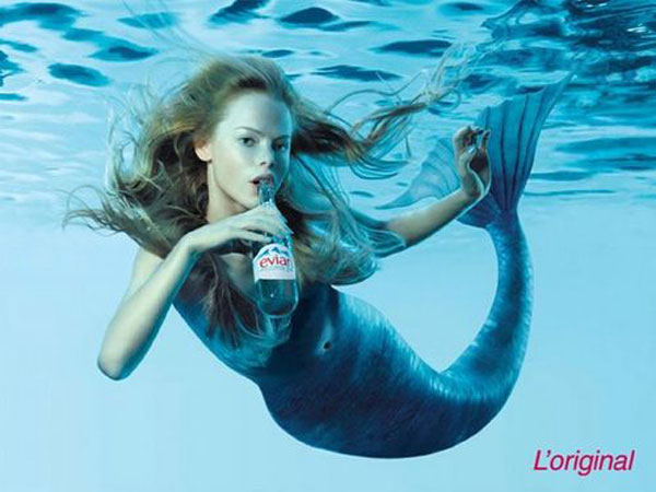Evian Print Advertisement