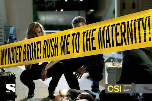Missed your CSI episode? Print Advertisement