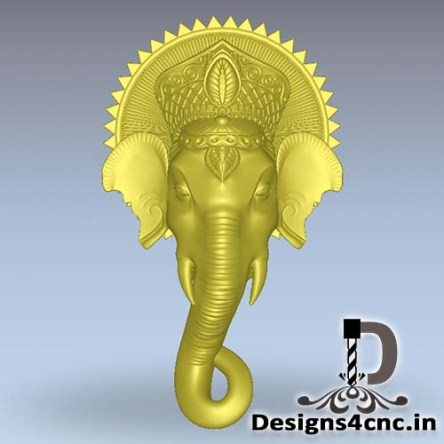 Artcam God Ganeshji wood carving file rlf for CNC