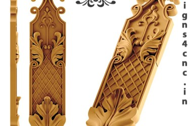 wooden door paneling curving file for free