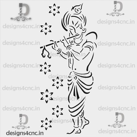 Shree krishna jali design dxf file