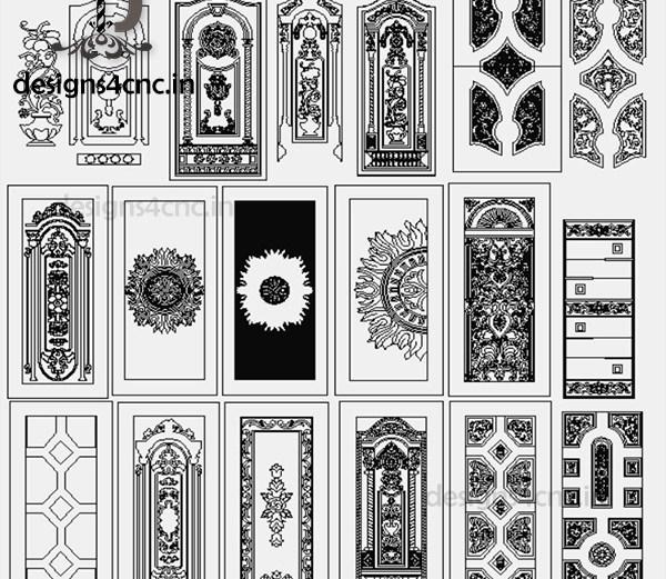 CNC door vector engraving designs free