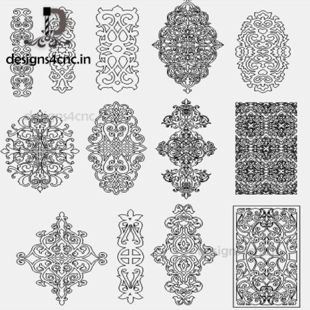 CNC vector door designs file free