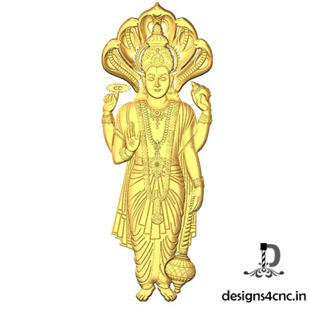 Vishnu bhagwan Artcam 3D model