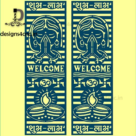 welcome lady jali cutting designs