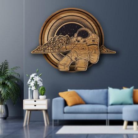 space travel Wall Art design vector