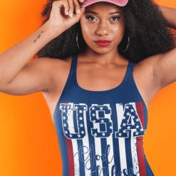 God Bless USA American Flag Patriotic T-Shirt Design