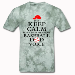 Keep Calm Baseball Dad Sports T-Shirt Design