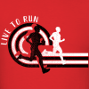 Boys Running T Shirt Template | Track & Field Live To Run Custom T-Shirt Design Template