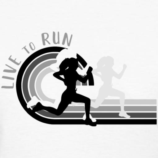 Live to Run Girls Running Shirt | Track & Field Running T-Shirt Design