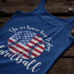 Patriotic Baseball USA America Play Ball Hardball T-shirt Design