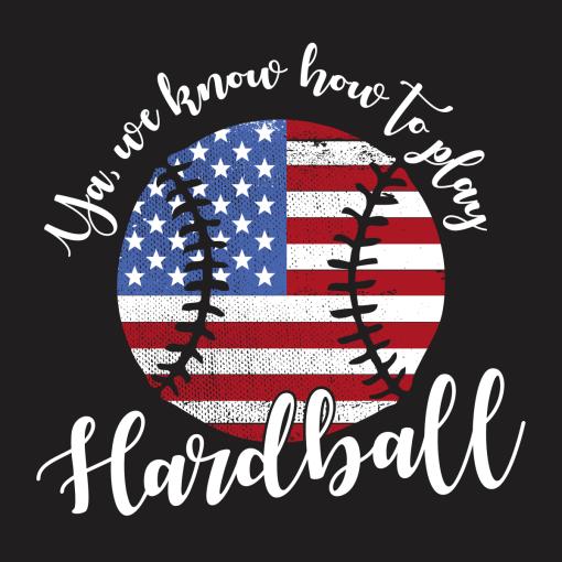 Patriotic Baseball Flag T Shirt Design USA America Play Hardball T-shirt Design