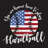 Patriotic Baseball Flag T Shirt Design USA America Play Hardball T-shirt Design