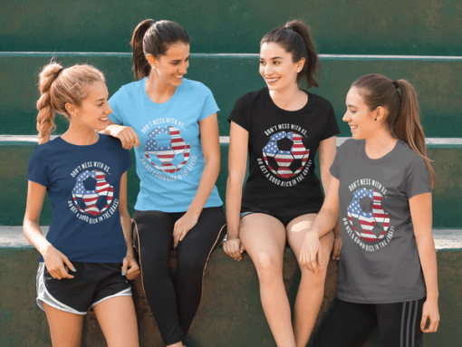 Patriotic Soccer Team USA American Flag 4th of July T-shirt Shirt Design