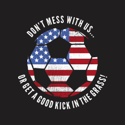 Soccer T Shirt Design Kick Grass US American Flag - Patriotic Ready-to-Print Design