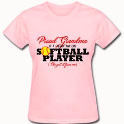 Proud Grandma Softball Sports T-Shirt Design