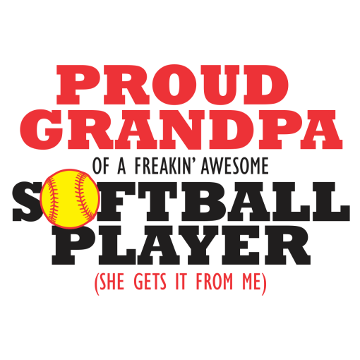 Proud Grandpa Softball Shirts | Player Sports T-Shirt Design