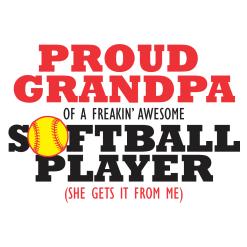 Proud Grandpa Softball Shirts | Player Sports T-Shirt Design