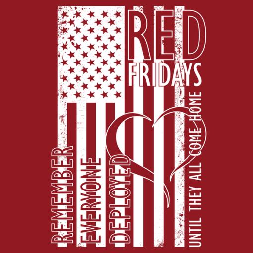 R.E.D. Shirts American FLAG US Military Support T-Shirt Design