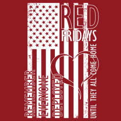 R.E.D. Shirts American FLAG US Military Support T-Shirt Design