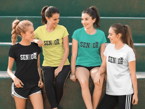 Seniors Class of 2020 Athletic Graduation Year T-Shirt Design