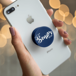 Senior Year Script Graduation Custom T-Shirt Design Template PopSocket
