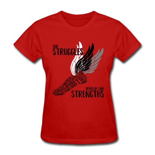 Struggles & Strengths Track & Field Running Wings T-Shirt Design