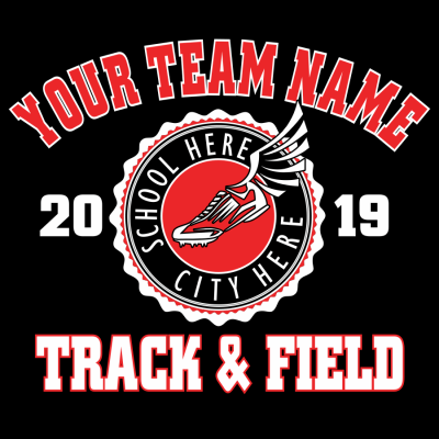 Track and Field School Team - Custom T Shirt Template Vector Design