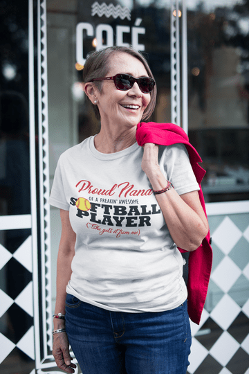 Proud Nana Softball Sports T-Shirt Design